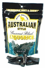 Wiley Wallaby Australian Style Liquorice -  Gourmet Black, 10oz/284g (Single)