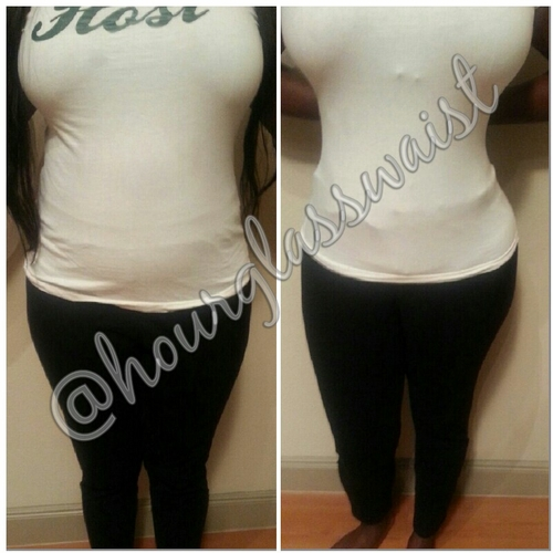 Before and After Waist Cincher