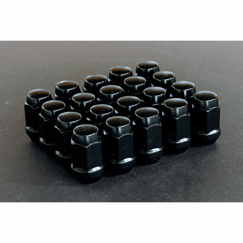 Black Type (Closed End) Conical Seat Lug Nuts (12x1.5)