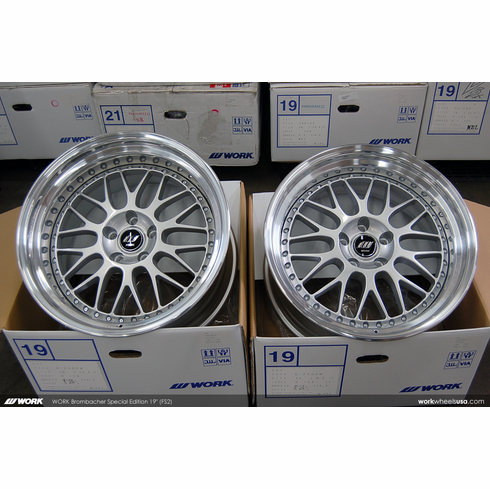 WORK Brombacher <br> Special Edition (FS2)<br>(2) 19x9.5 +15 / (2) 19x11.0 +12<br> 5x114.3