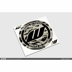 WORK Circle W Camo Sticker (Black)