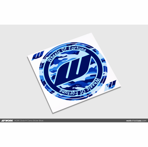 WORK Circle W Camo Sticker (Blue)