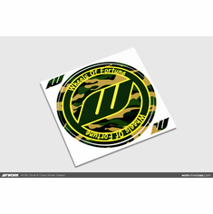 WORK Circle W Camo Sticker (Green)