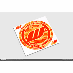 WORK Circle W Camo Sticker (Orange)