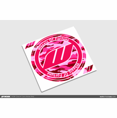 WORK Circle W Camo Sticker (Pink)