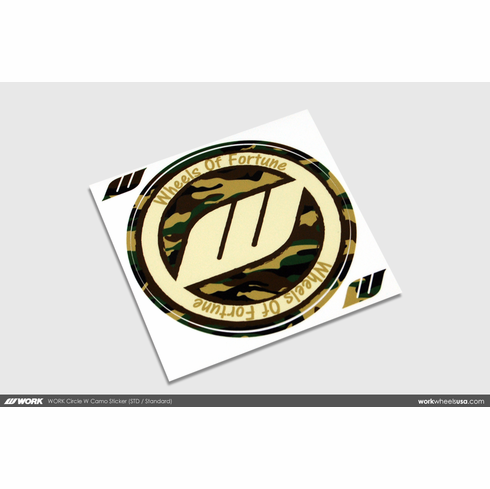 WORK Circle W Camo Sticker (Standard)