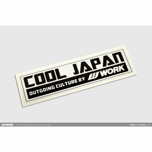 WORK Cool Japan Box Sticker (Black)