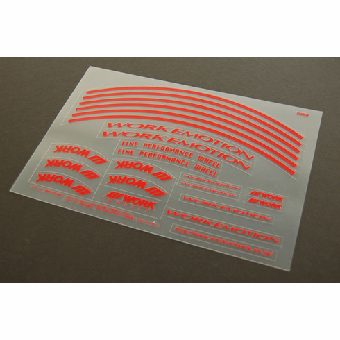 WORK Emotion 11R Decal Sheet (Red)