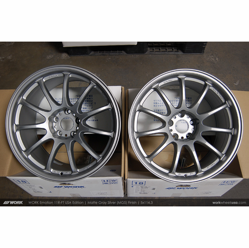 WORK Emotion 11R-FT (MGS)<br> 18x9.5 +15 / 18x10.5 +22<br> 5x114.3