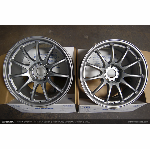 WORK Emotion 11R-FT (MGS)<br> (2) 18x9.5 +25 / (2) 18x10.5 +22<br> 5x120