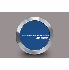 WORK Emotion Center Cap (Flat Type / Blue Finish)