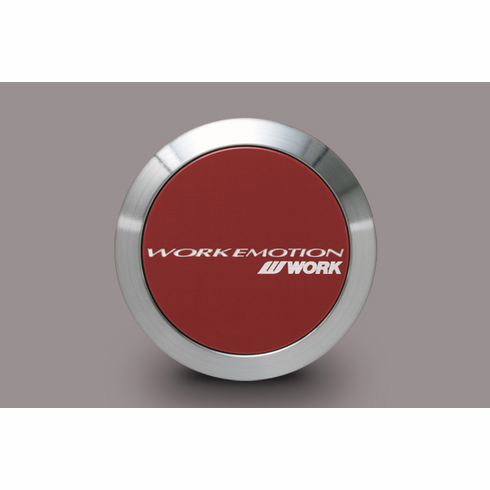 WORK Emotion Center Cap (Flat Type / Red Finish)