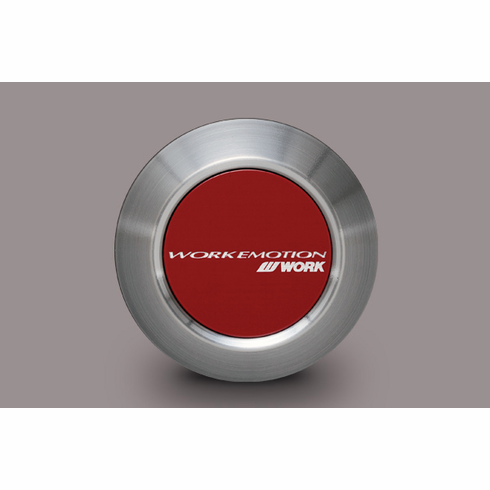 WORK Emotion Center Cap (Low Type / Red Finish)