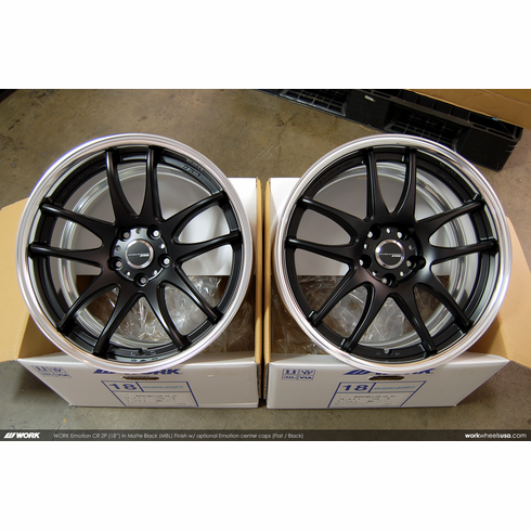 WORK Emotion CR 2P (MBL)<br>(2) 18x9.5 +38 / (2) 18x9.5 +38<br>5x114.3