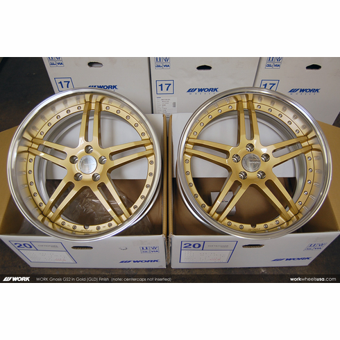 WORK Gnosis GS2 (GLD)<br>  20x9.5 +5 / 20x10.5 +5<br> 5x114.3