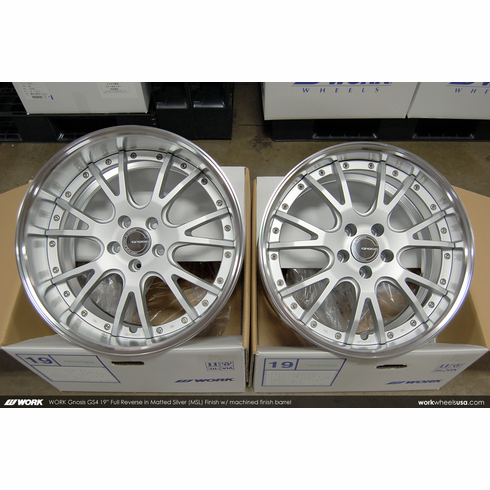 WORK Gnosis GS4 (MSL)<br>19x9.5 +30 / 19x10.5 +20<br>5x114.3