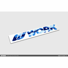 WORK Logo Camo Sticker (Blue)