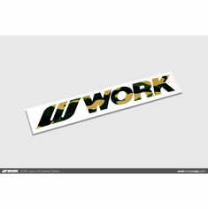 WORK Logo Camo Sticker (Green)