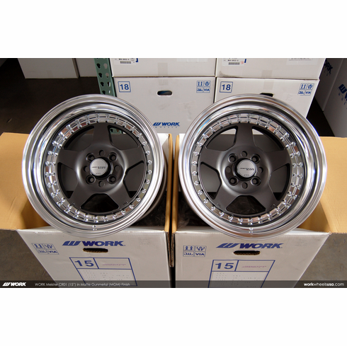 WORK Meister CR-01 (MGM)<br>(4) 15x10.0 +7<br>4x100