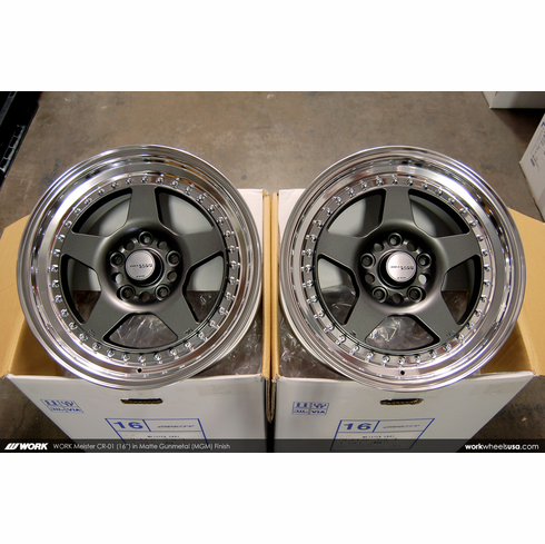 WORK Meister CR-01 (MGM)<br>(4) 16x8.0 +35<br>5x114.3