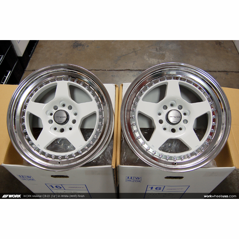 WORK Meister CR-01 (WHT)<br>(4) 16x8.0 +35<br>5x114.3