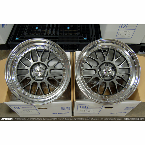 WORK Meister M1 3P (MGM)<br>(2) 18x10.0 +36 / (2) 18x10.0 +38<br>5x114.3