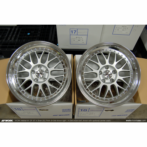 WORK Meister M1 3P (SIL)<br>(2) 18x10.0 +36 / (2) 18x10.0 +36<br>5x114.3