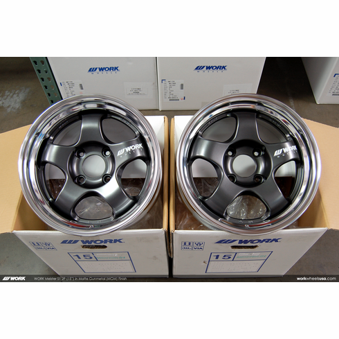 WORK Meister S1 2P (MGM)<br>(2) 15x6.5 +15 / (2) 15x7.0 +19<br>4x114.3