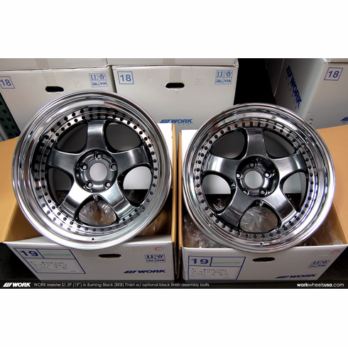 WORK Meister S1 3P (BKB)<br>19x10.0 +24 / 19x12.0 +22<br>5x114.3