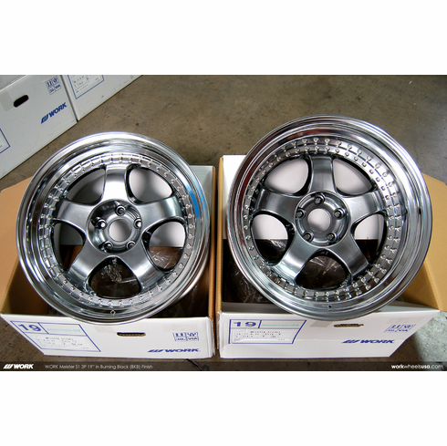 WORK Meister S1 3P (BKB)<br>(2) 19x9.5 +17 / (2) 19x11.0 +10<br>5x114.3