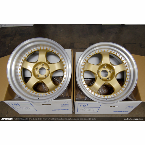 WORK Meister S1 3P (GLD)<br>(2) 19x9.5 +17 / (2) 19x11.0 +10<br>5x114.3