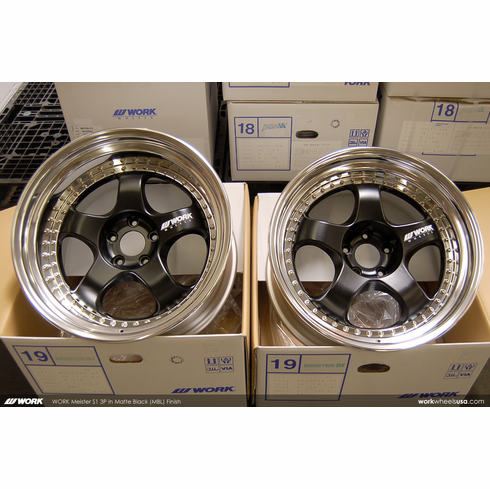 WORK Meister S1 3P (MBL) <br>19x9.5 +12 / 19x11.0 +10<br>5x114.3 <br>