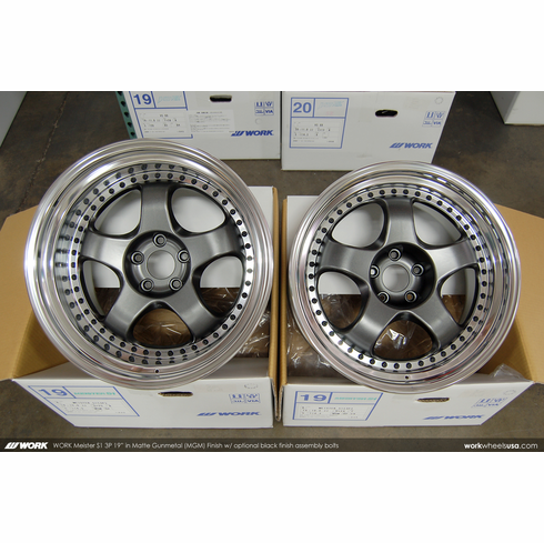 WORK Meister S1 3P (MGM)<br>19x10.0 +24/ 19x12.0 +22<br>5x114.3