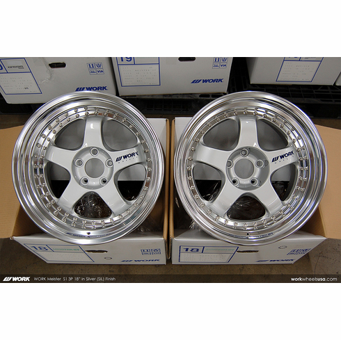 WORK Meister S1 3P (SIL)<br>18x10.0 +18 / 18x10.0 +18<br>5x114.3