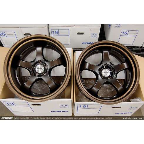 WORK Meister S1R (GMB)<br> (2) 19x9.5 +15 /  (2) 19x11.0 +16<br> 5x114.3