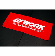 WORK Motor Sports Wheel Towel (Red)