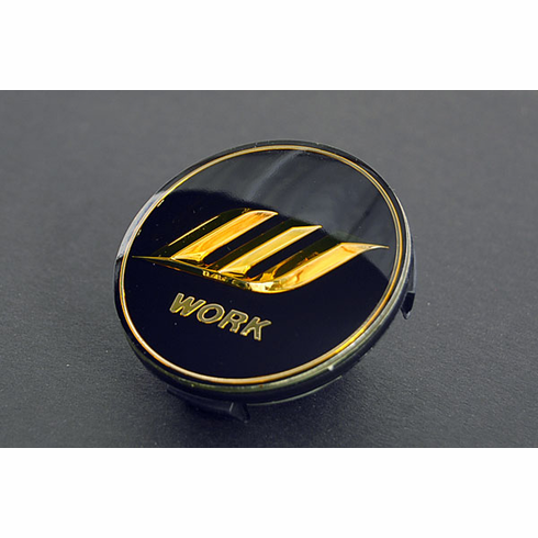 WORK Optional Centercap - Black/Gold (Big Base)
