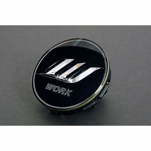 WORK Optional Centercap - Black/Silver (Small Base)