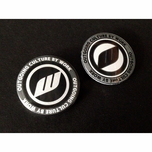 WORK Outgoing Culture Buttons Pack (Gray/Black)