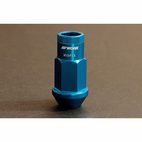 WORK RS-R Type (Open End) Blue Replacement Lug Nut