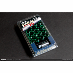 WORK RS-R Type (Open End) Green Lug Nuts