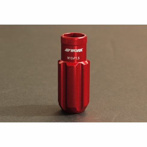 WORK RS-R Type (Open End) Red Replacement Lock Nut