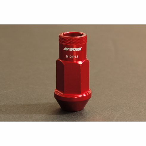 WORK RS-R Type (Open End) Red Replacement Lug Nut