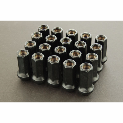 WORK RS-Z Type (Open End) Black Lug Nuts