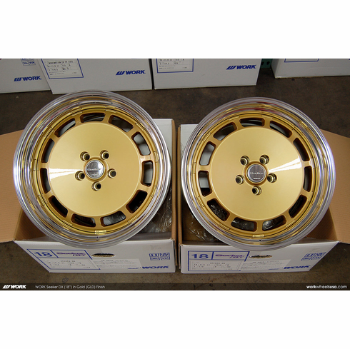 WORK Seeker DX (GLD)<br>(2) 18x9.0 +30 / (2) 18x10.0 +30<br>5x112