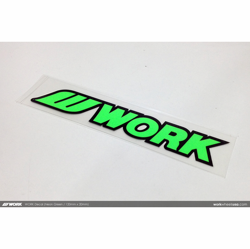 WORK Sticker (Neon Green)