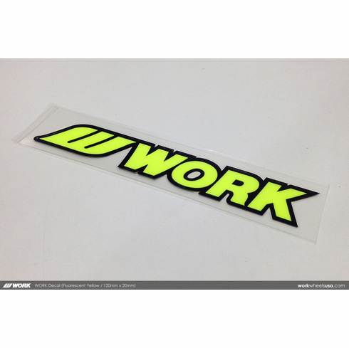 WORK Sticker (Neon Yellow)