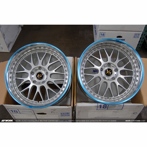 WORK VS-XX (BS) <br>(2) 18x9.5 +19 / (2) 18x10.5 +19<br>  5x120