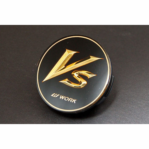 "WORK VS-XX ""VS"" 15"" Centercap - Black/Gold"