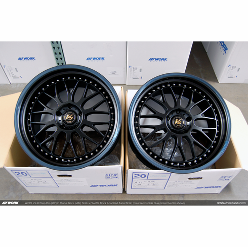 WORK VS-XX Step Rim (MBL)<br>(2) 20x9.5 +17 / (2) 20x11.0 +34<br>5x120